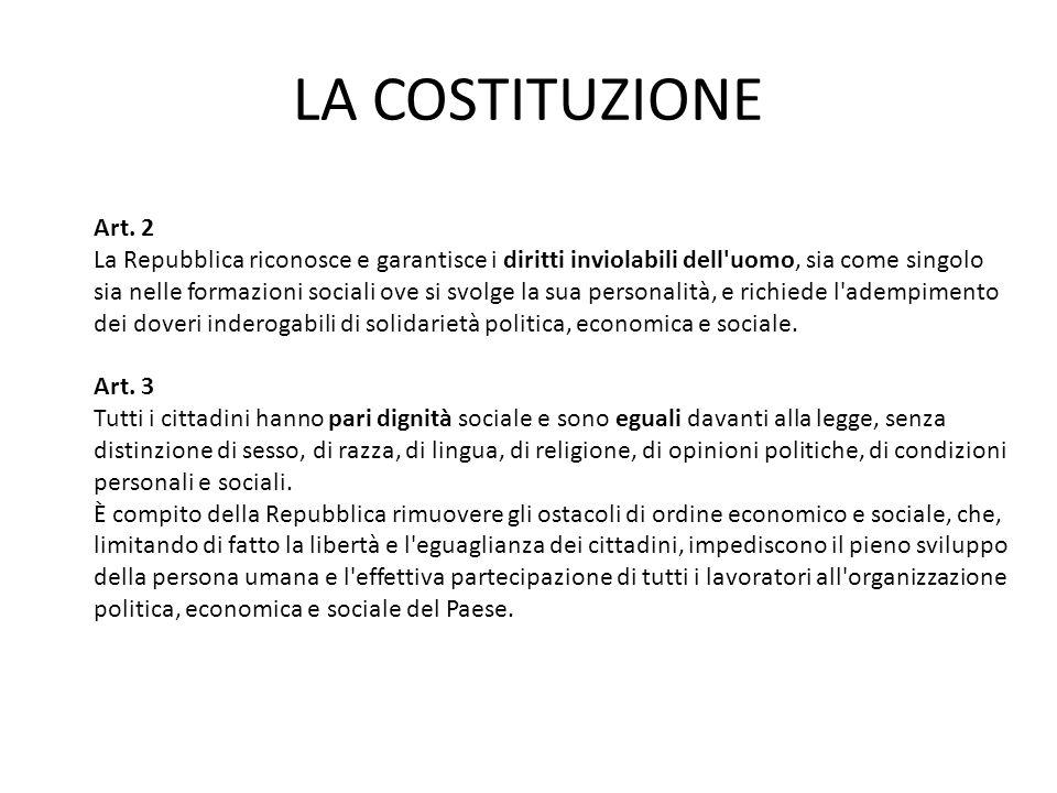 LA COSTITUZIONE Art. 2.