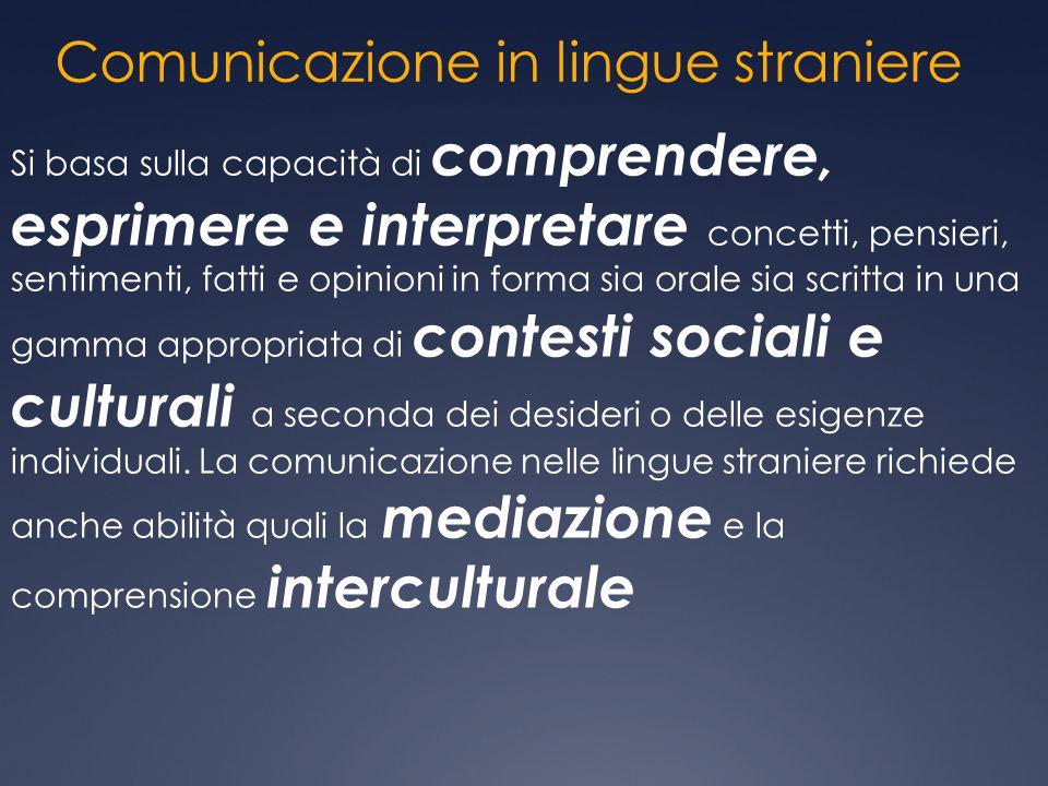 Comunicazione in lingue straniere