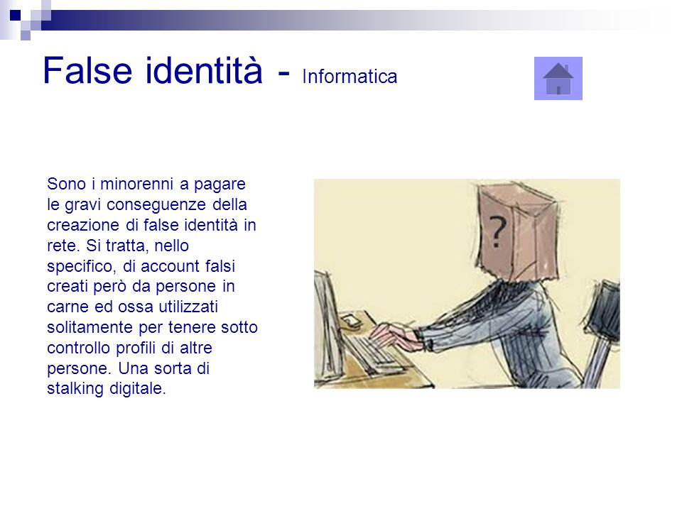 False identità - Informatica