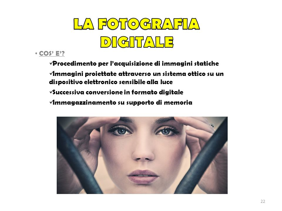 La fotografia digitale