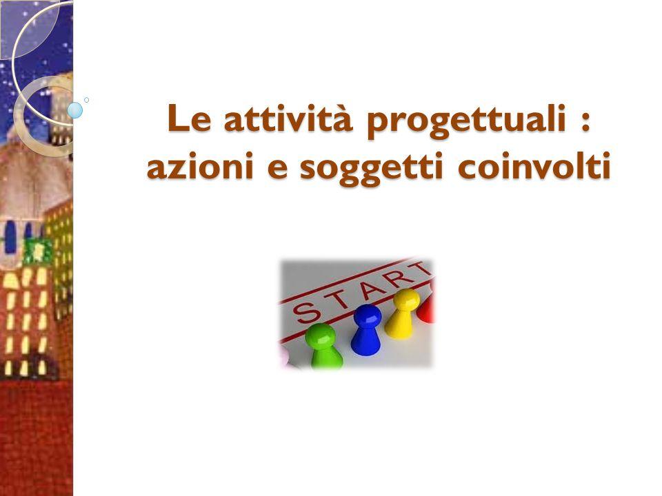 Le attività progettuali : azioni e soggetti coinvolti