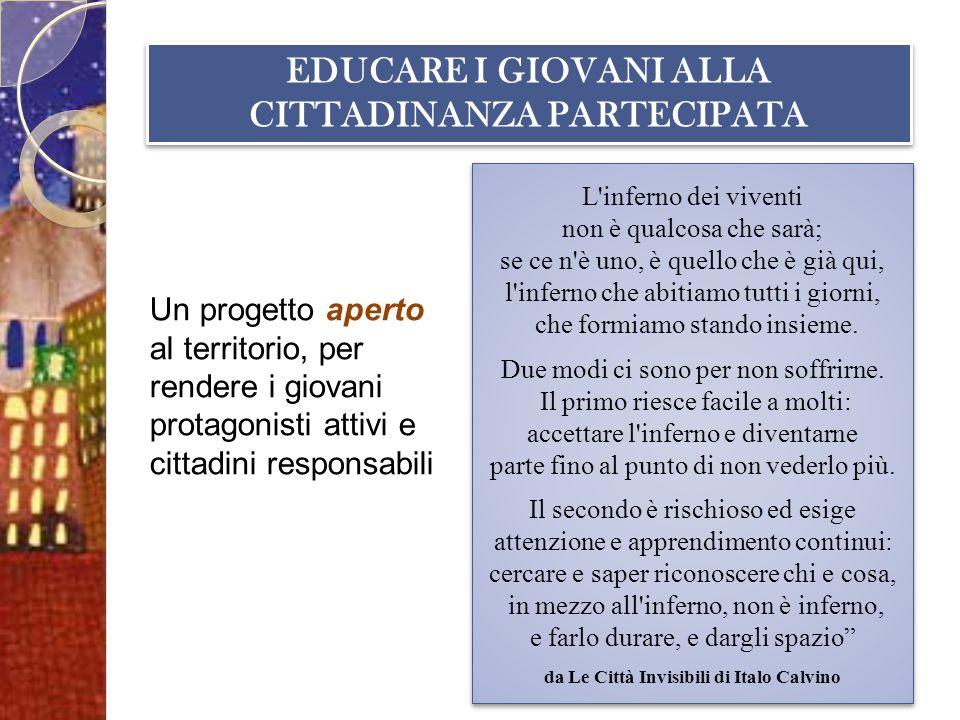 EDUCARE I GIOVANI ALLA CITTADINANZA PARTECIPATA