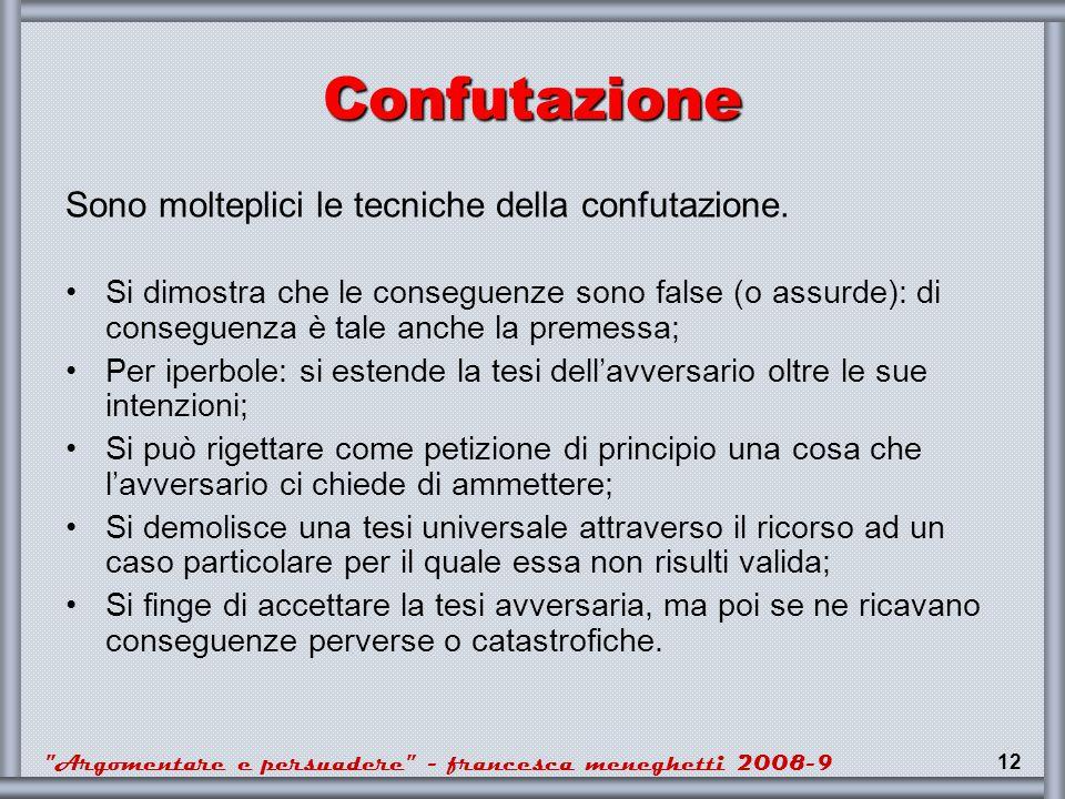 Argomentare e persuadere - francesca meneghetti 2008-9