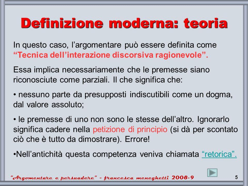 Definizione moderna: teoria