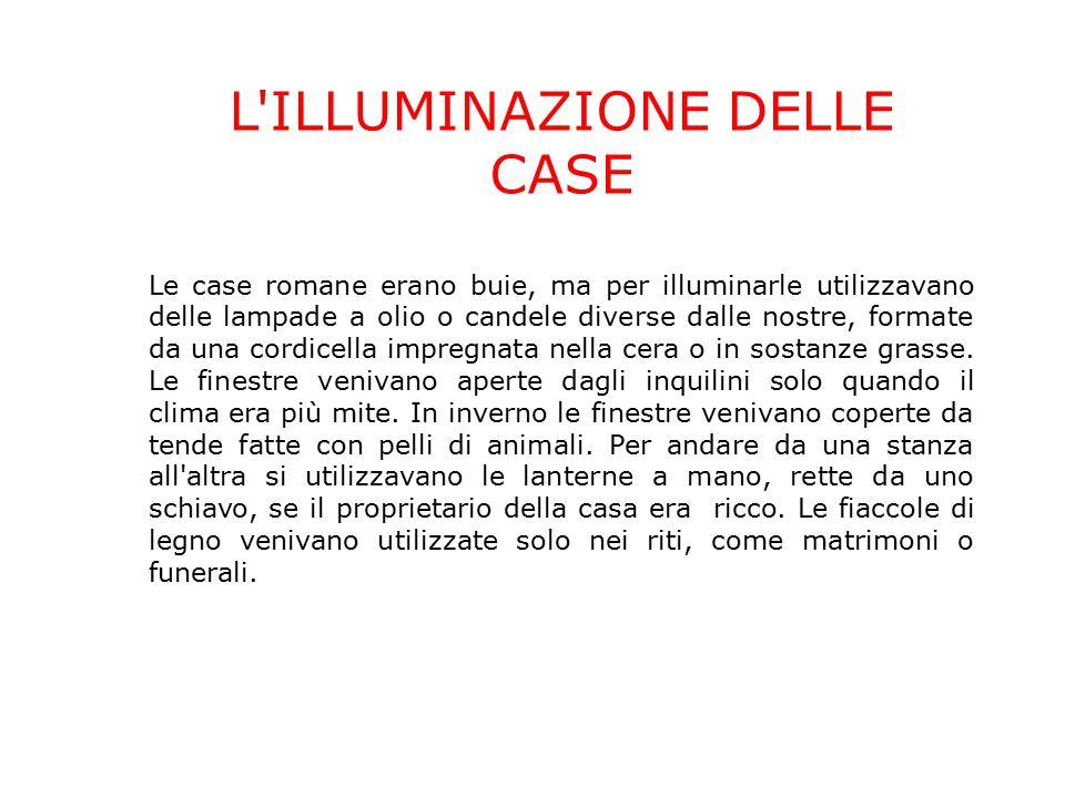 L ILLUMINAZIONE DELLE CASE