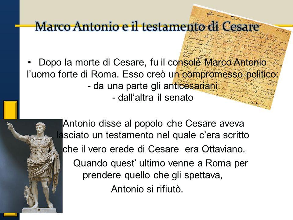 Marco Antonio e il testamento di Cesare