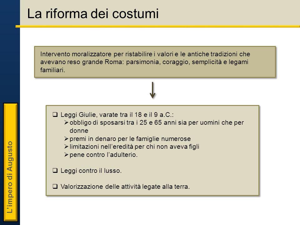 La riforma dei costumi