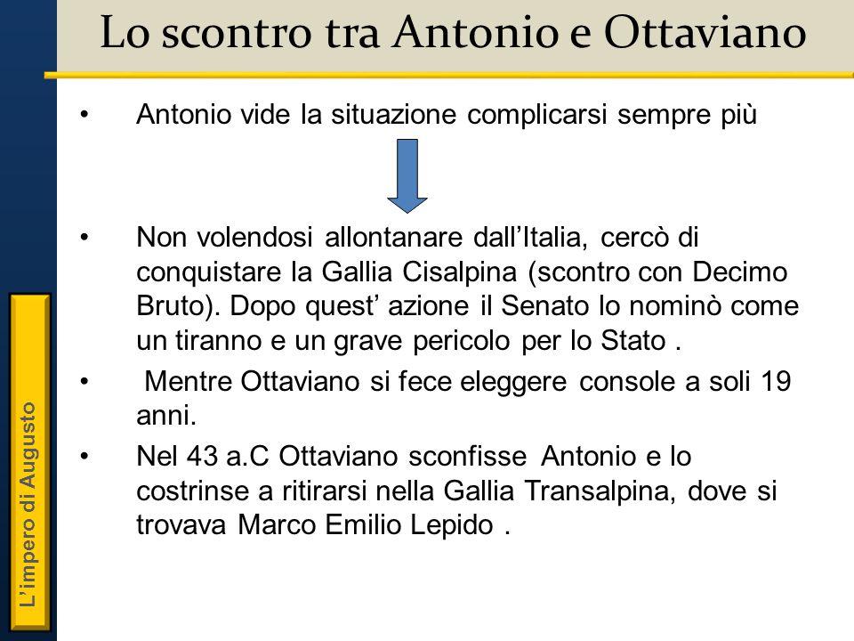 Lo scontro tra Antonio e Ottaviano