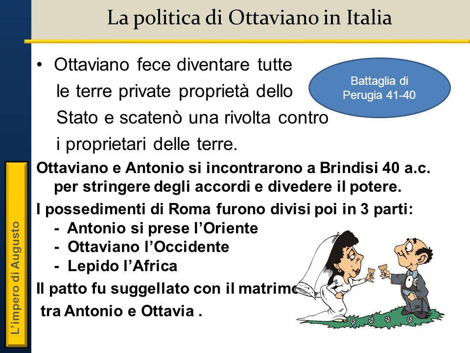 La politica di Ottaviano in Italia