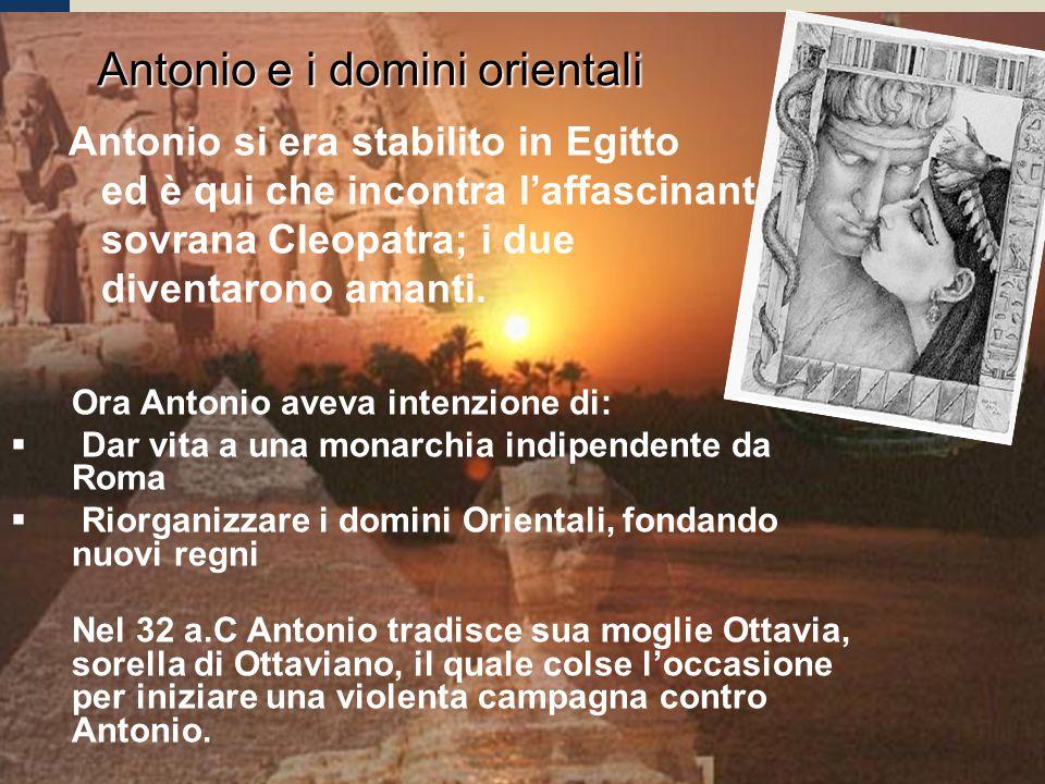 Antonio e i domini orientali