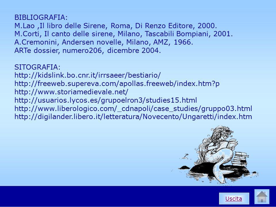 M.Lao ,Il libro delle Sirene, Roma, Di Renzo Editore, 2000.