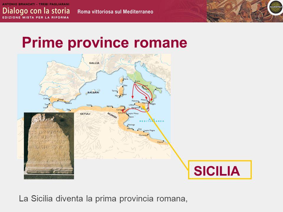 Prime province romane SICILIA