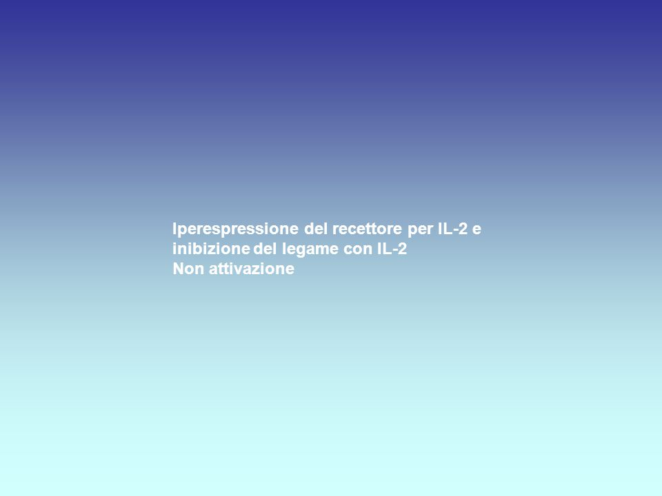 Iperespressione del recettore per IL-2 e inibizione del legame con IL-2