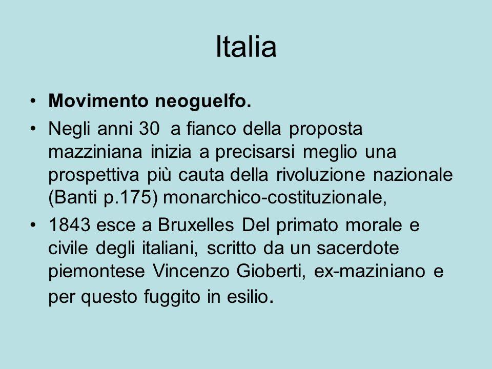 Italia Movimento neoguelfo.