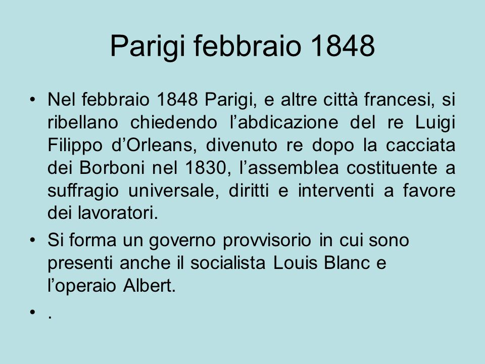 Parigi febbraio 1848