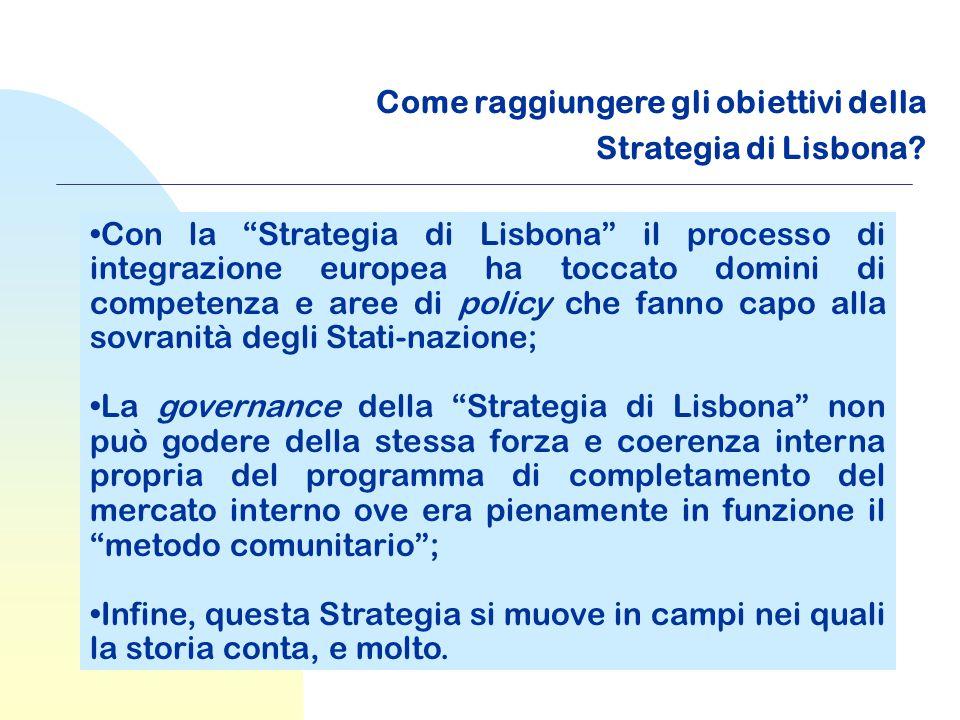 Come raggiungere gli obiettivi della Strategia di Lisbona