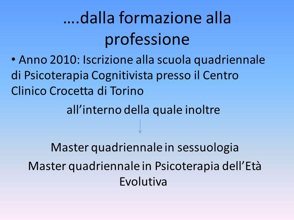 ….dalla formazione alla professione