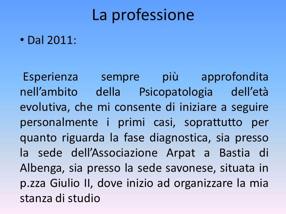La professione Dal 2011: