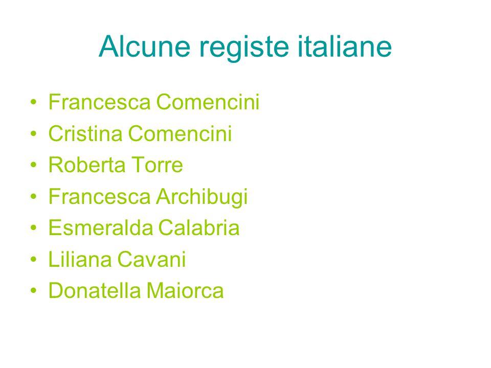 Alcune registe italiane