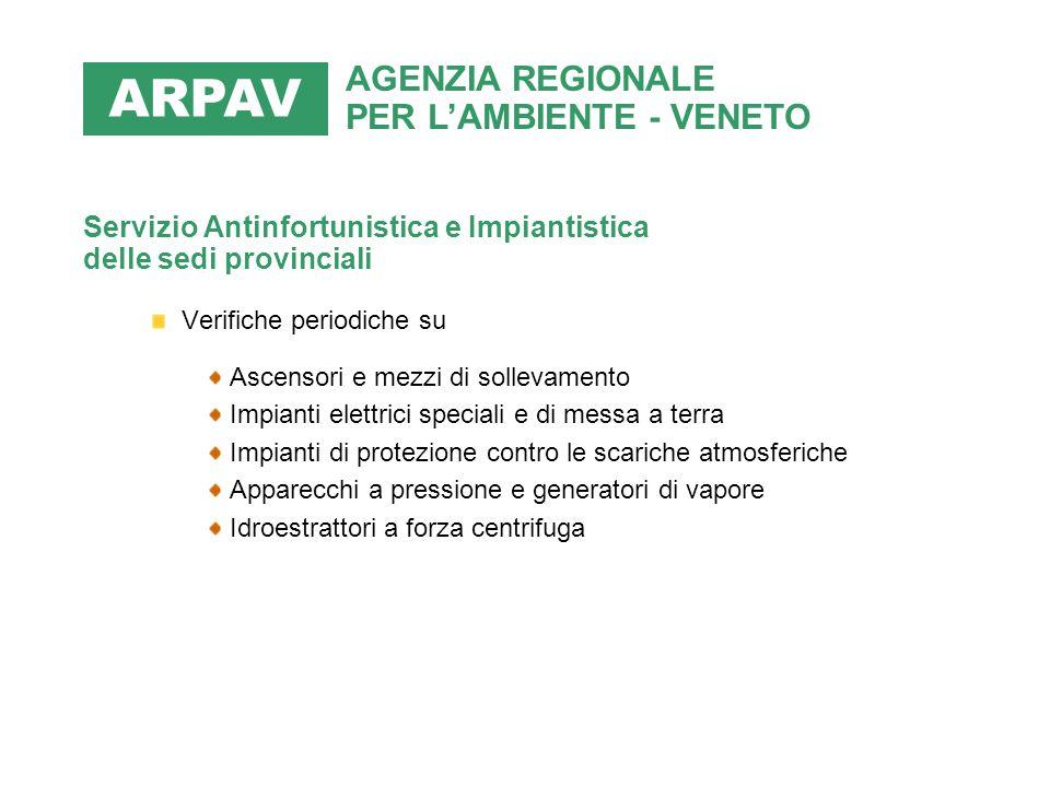 ARPAV AGENZIA REGIONALE PER L'AMBIENTE - VENETO