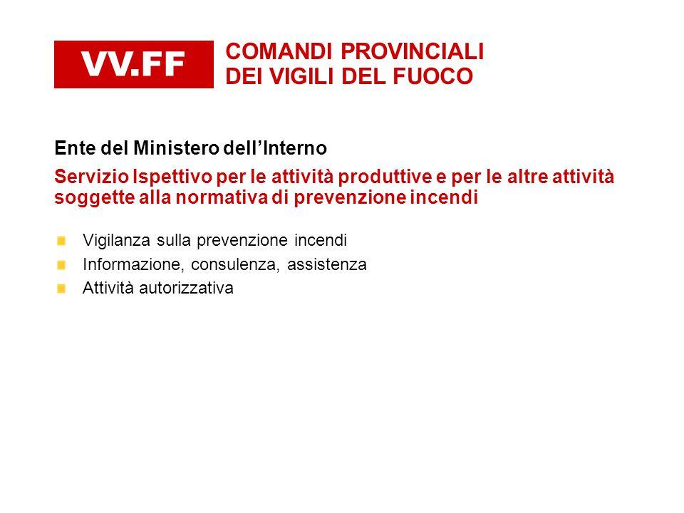 VV.FF COMANDI PROVINCIALI DEI VIGILI DEL FUOCO