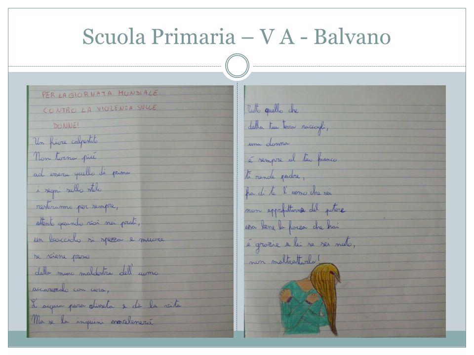 Scuola Primaria – V A - Balvano