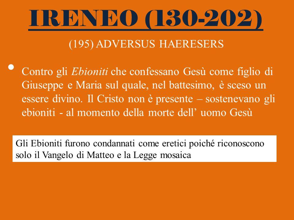 IRENEO (130-202) (195) ADVERSUS HAERESERS