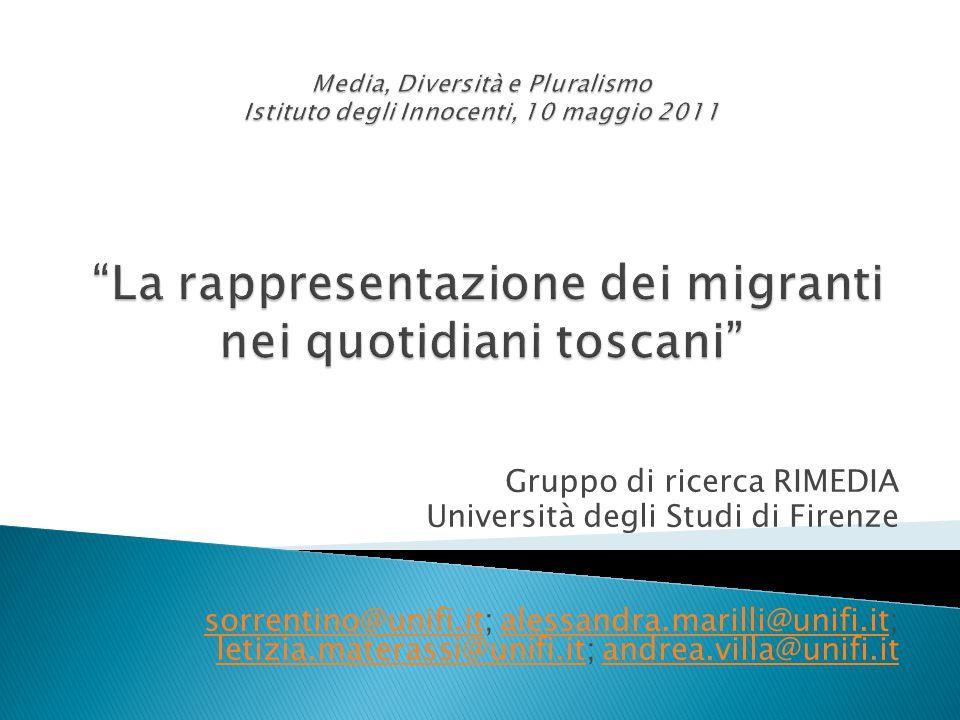 Gruppo di ricerca RIMEDIA Università degli Studi di Firenze