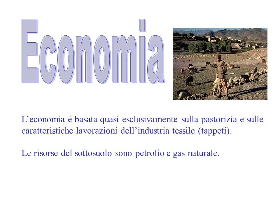 Economia L'economia è basata quasi esclusivamente sulla pastorizia e sulle. caratteristiche lavorazioni dell'industria tessile (tappeti).