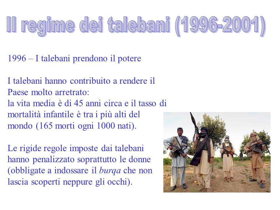 Il regime dei talebani (1996-2001)