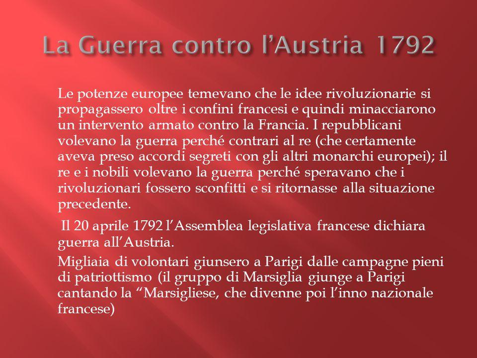 La Guerra contro l'Austria 1792