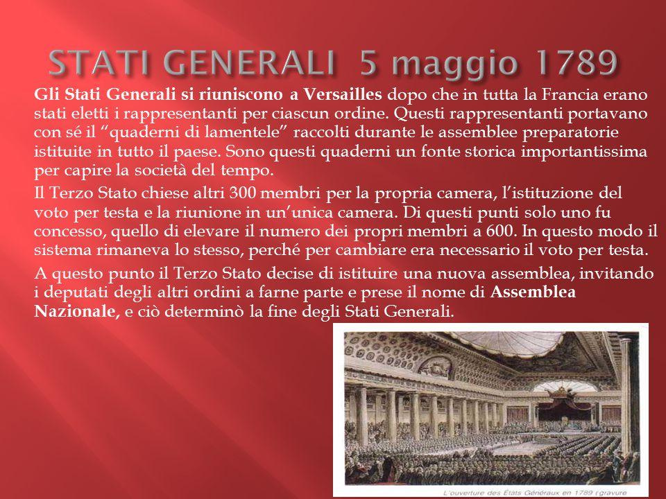 STATI GENERALI 5 maggio 1789