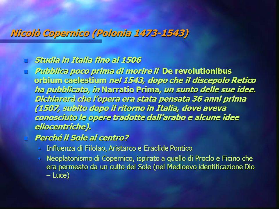 Nicolò Copernico (Polonia 1473-1543)