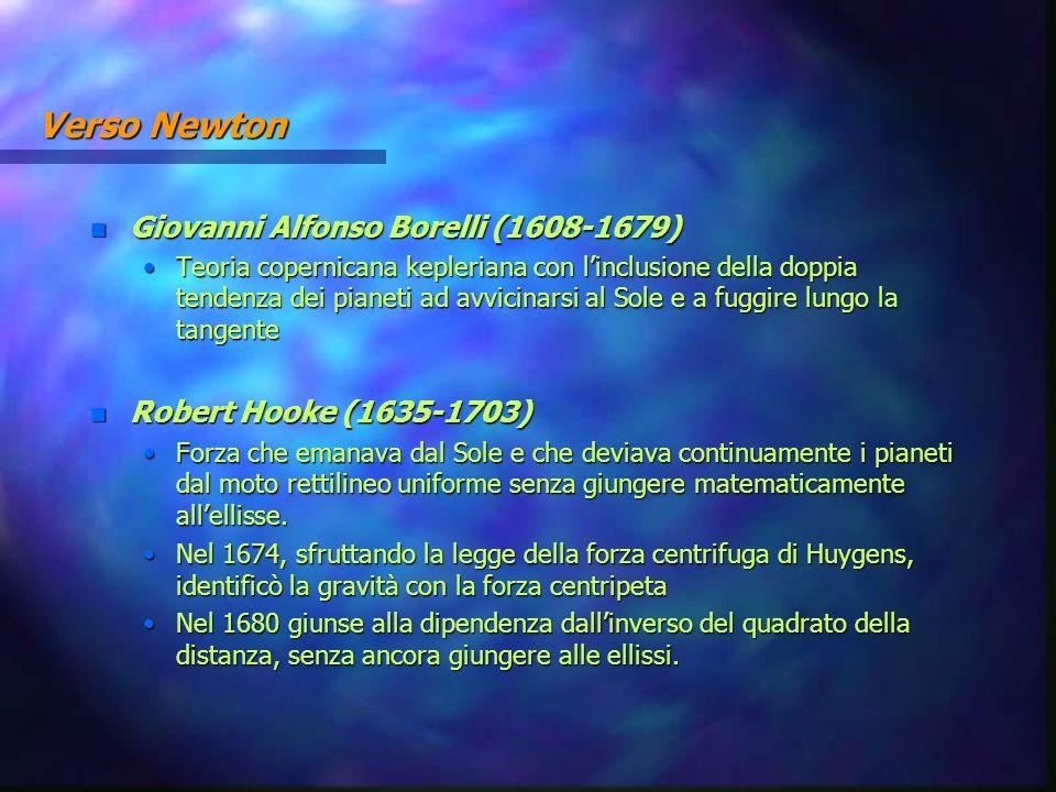 Verso Newton Giovanni Alfonso Borelli (1608-1679)