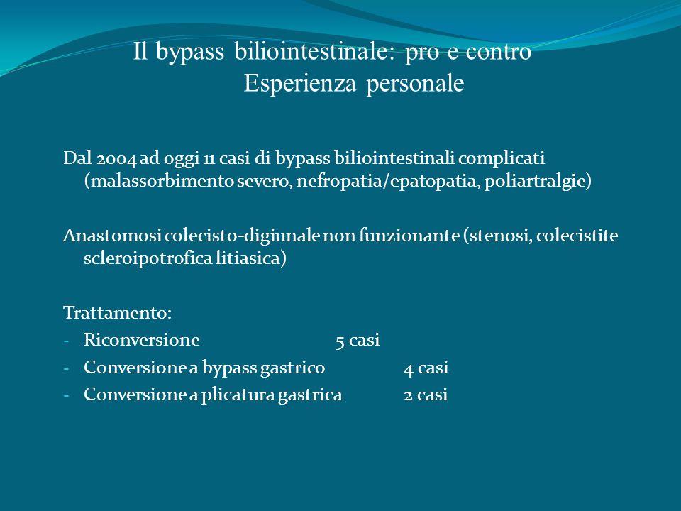 Il bypass biliointestinale: pro e contro Esperienza personale