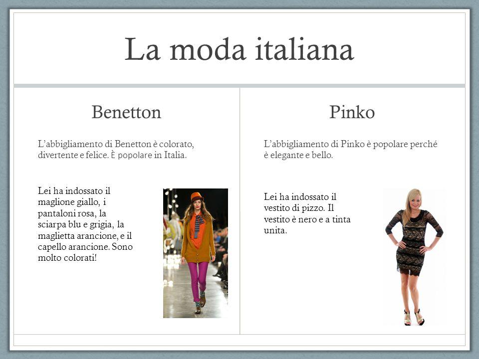La moda italiana Benetton Pinko