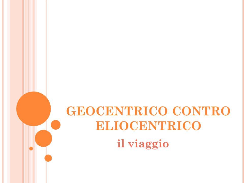 GEOCENTRICO CONTRO ELIOCENTRICO