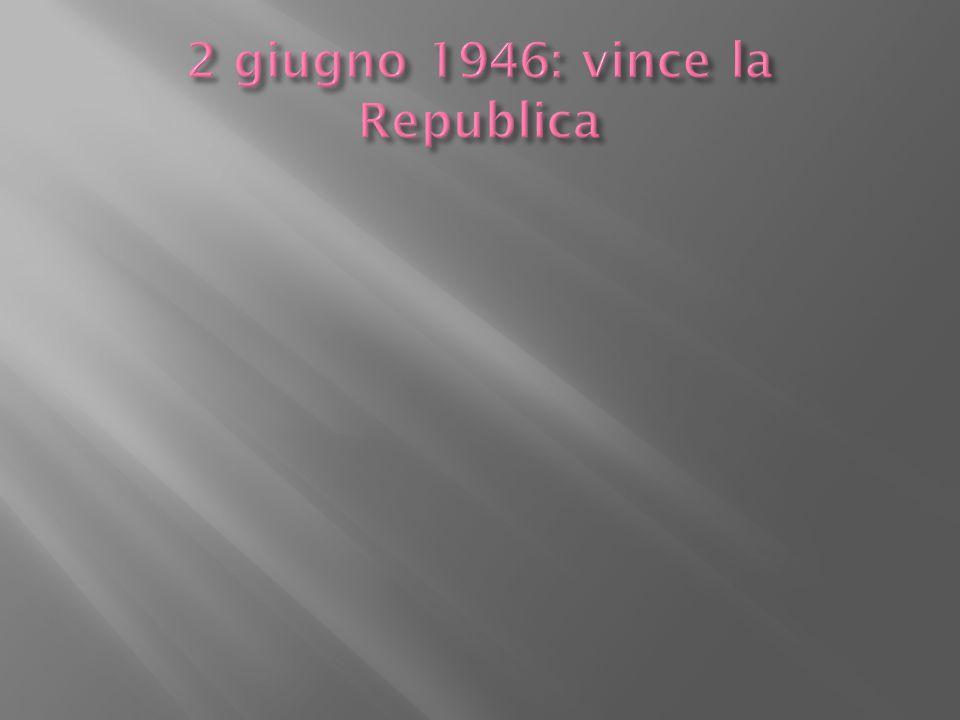 2 giugno 1946: vince la Republica