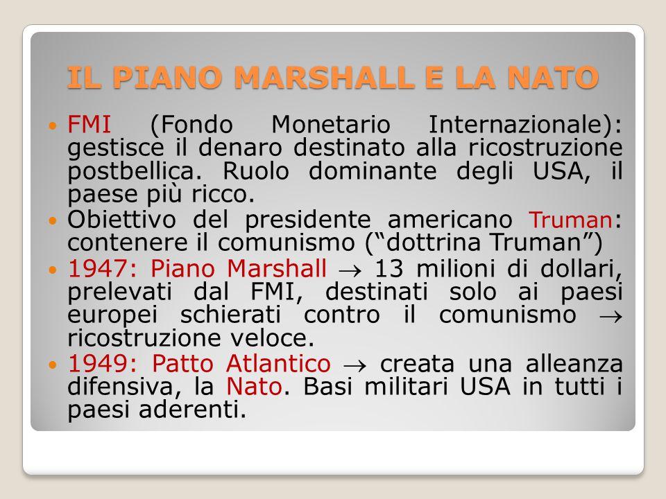 IL PIANO MARSHALL E LA NATO