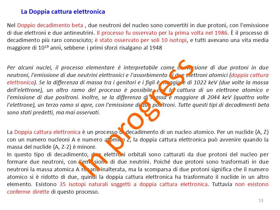 In progress La Doppia cattura elettronica
