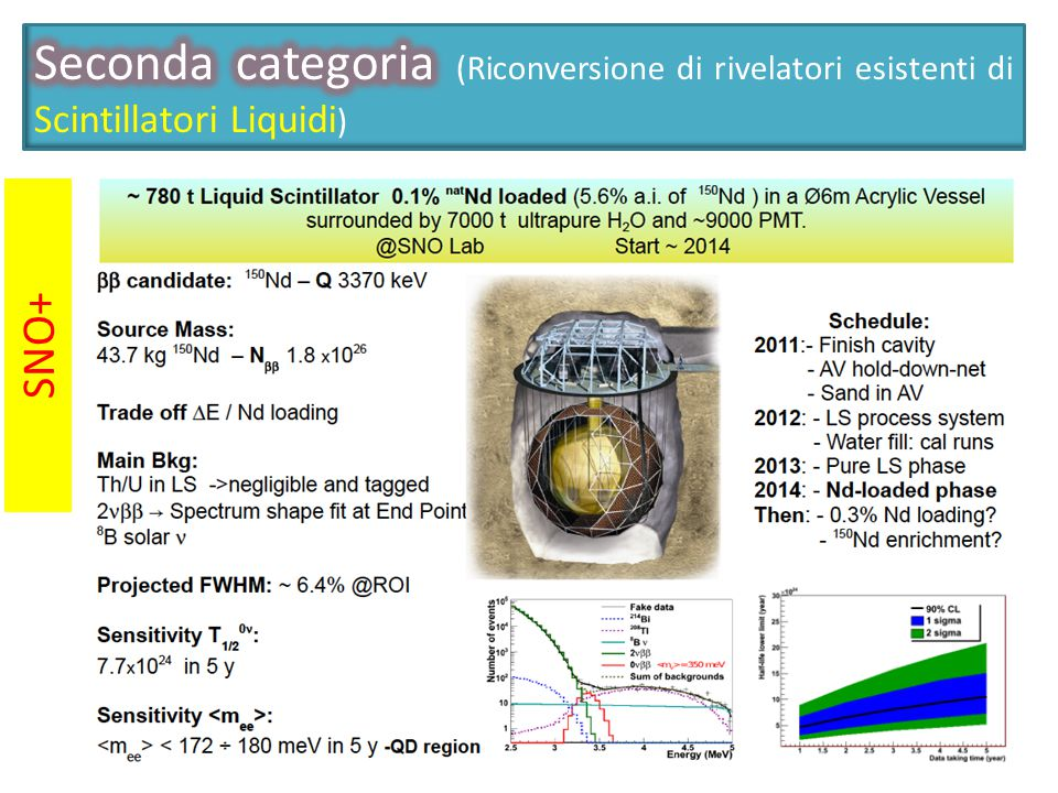 Seconda categoria (Riconversione di rivelatori esistenti di Scintillatori Liquidi)