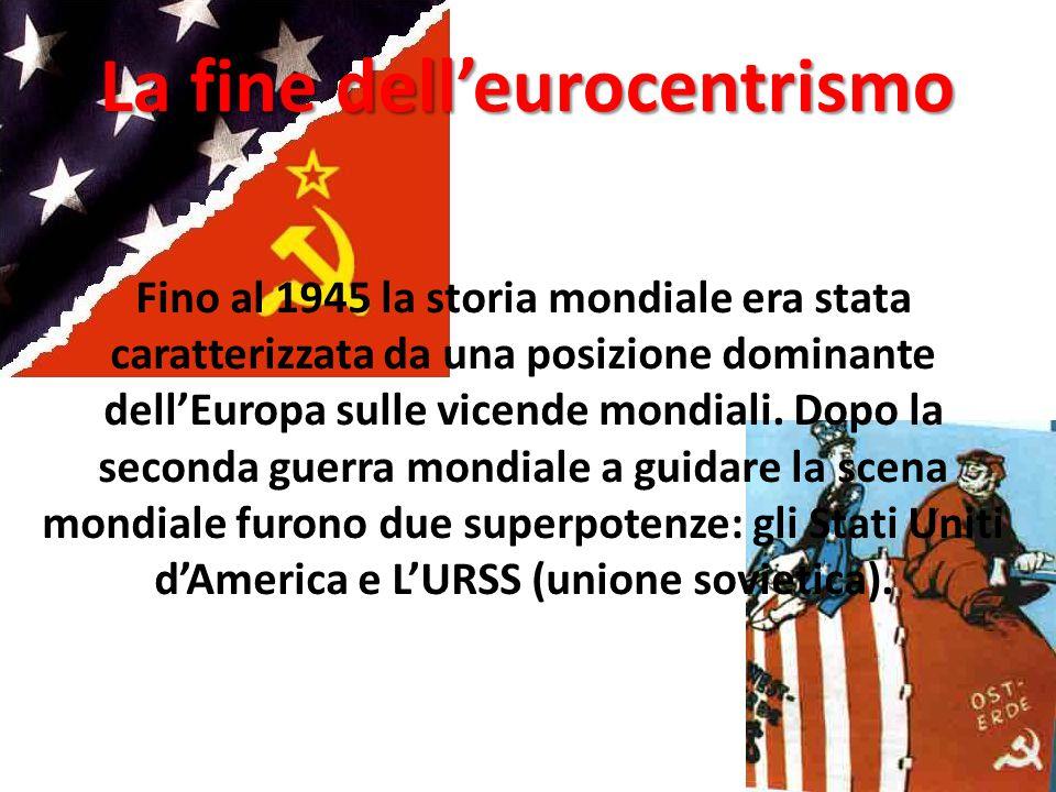 La fine dell'eurocentrismo