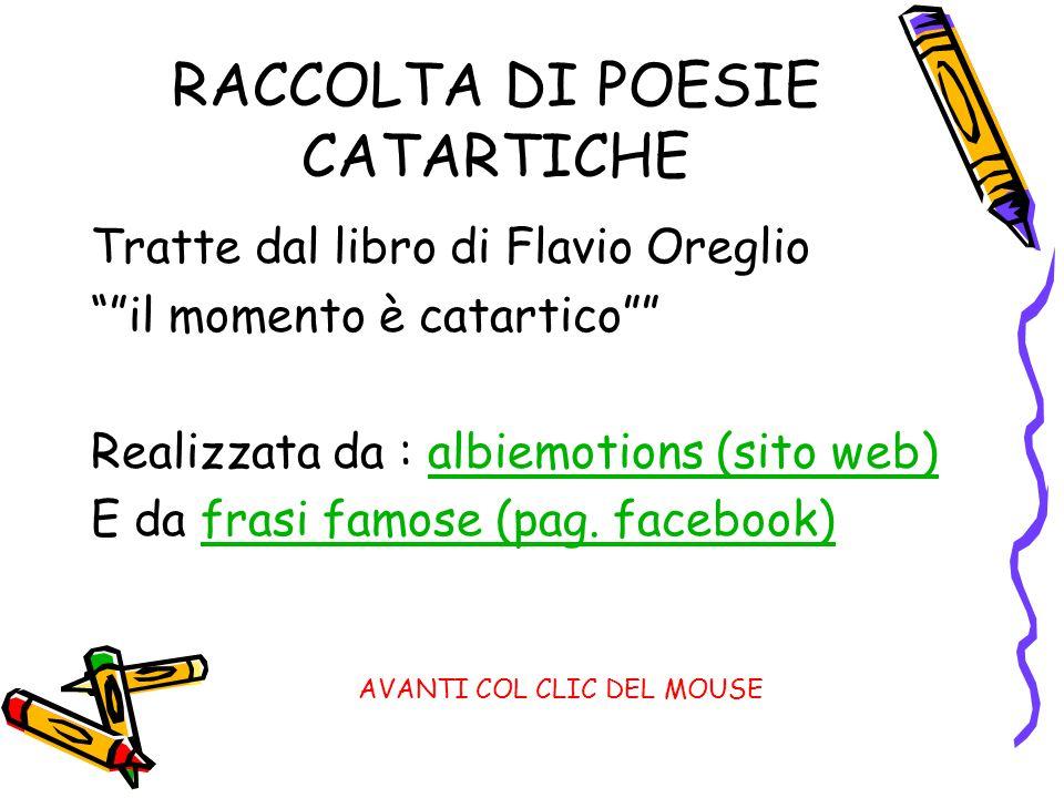 RACCOLTA DI POESIE CATARTICHE