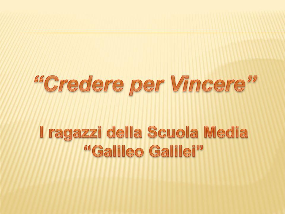 I ragazzi della Scuola Media Galileo Galilei
