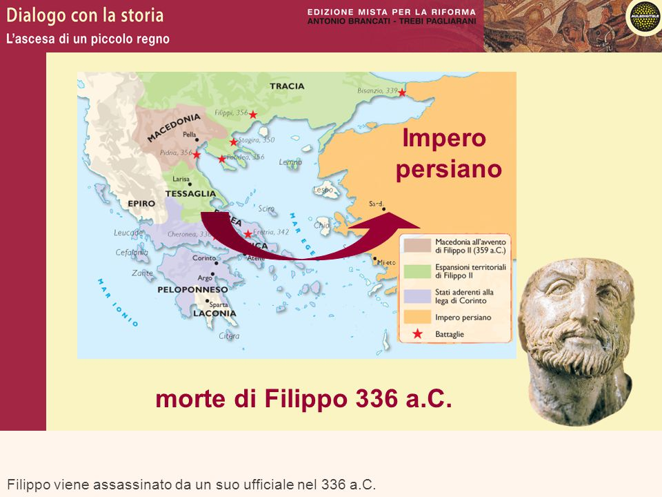 Impero persiano morte di Filippo 336 a.C.