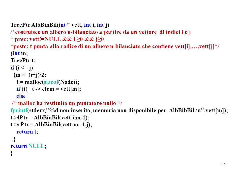TreePtr AlbBinBil(int * vett, int i, int j)