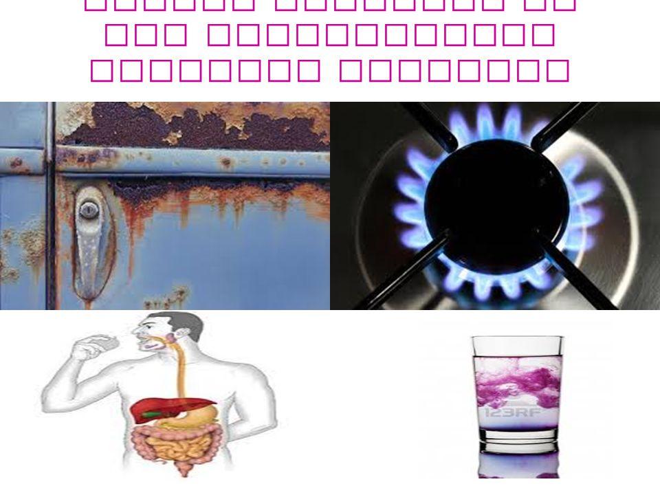 Alcuni processi in cui intervengono reazioni chimiche sono:
