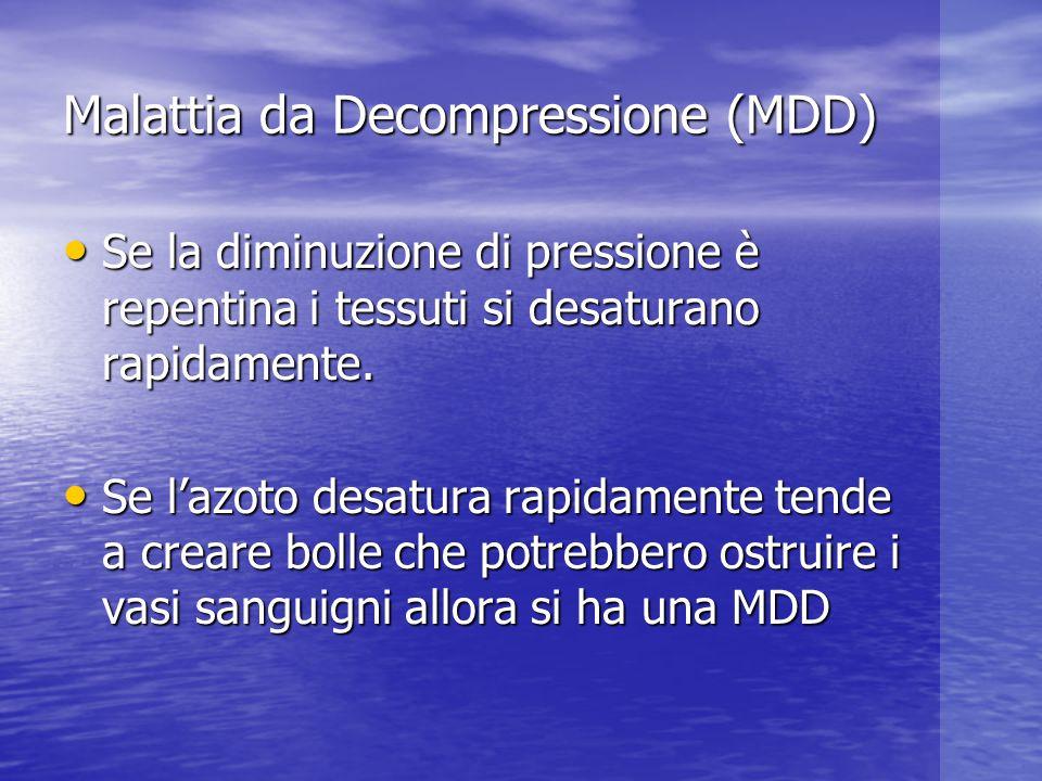 Malattia da Decompressione (MDD)