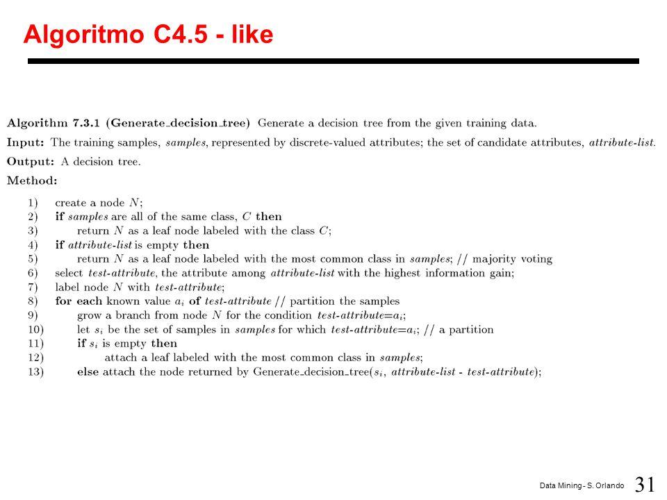 Algoritmo C4.5 - like