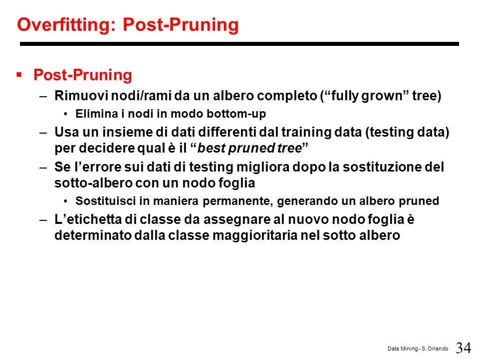 Overfitting: Post-Pruning